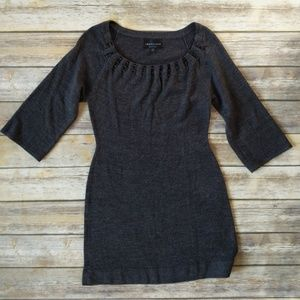 Connected Petite gray sweater dress.  #D234